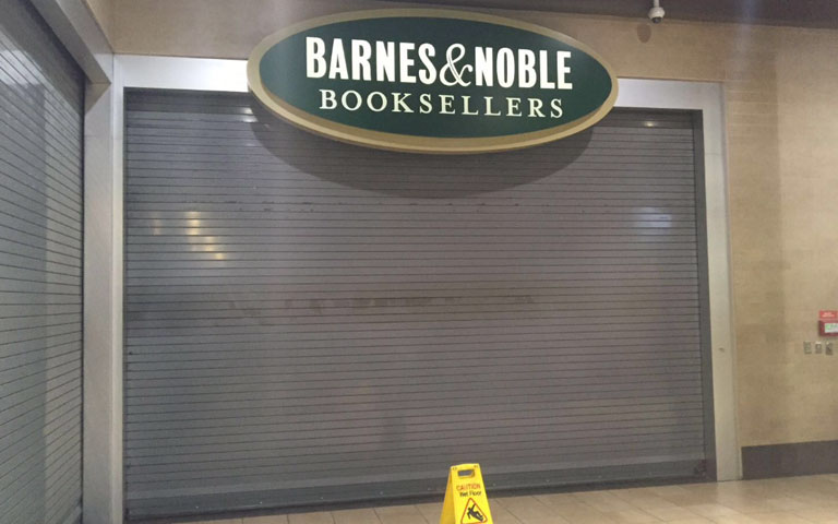 Commercial new gate installation for Barnes & Noble Book Sellers company in New York